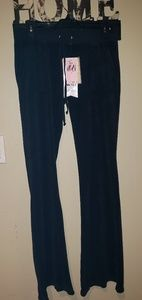 Juicy couture small black flare pants nwt